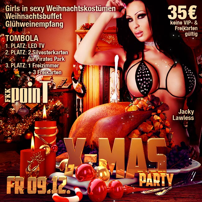 Freitag, den 09.12.2016: X-Mas Party mit Jacky Lawless, Tombola und vielem mehr!