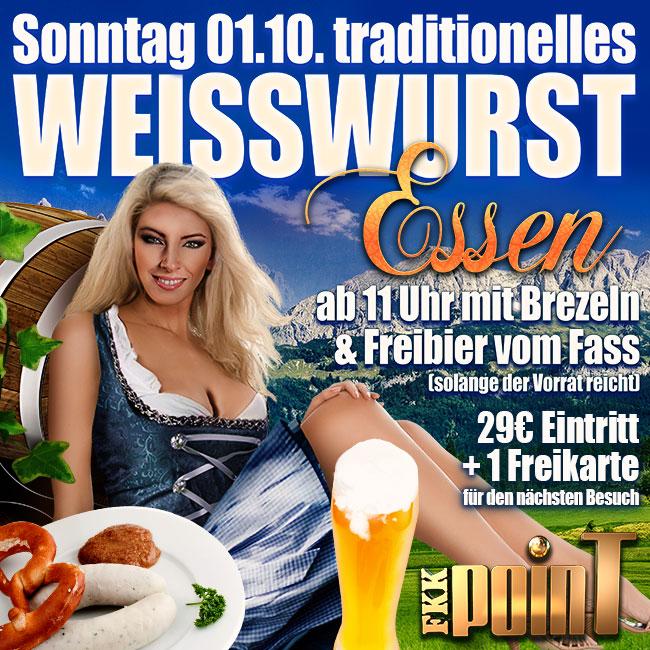 Jetzt geht es um die Wurst: Weißwurstessen am Sonntag, den 01. Oktober